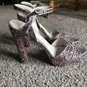 Nine West sparkly heels. Size 7.